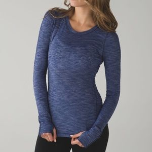 Lululemon Blue 5 Mile Long Sleeve Top